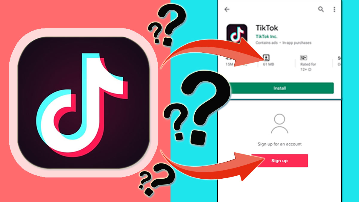 tiktok download to signup step by step