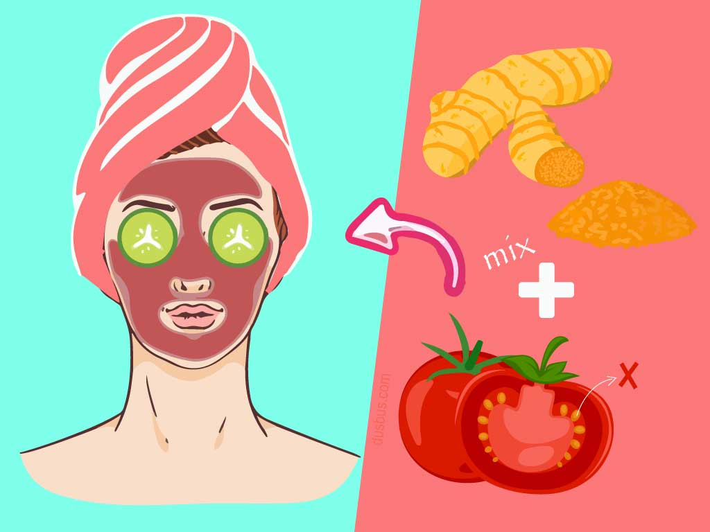 Tomato And Turmeric Mix face pack