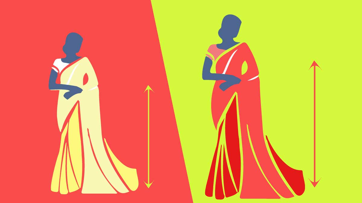 tips to look taller in a saree