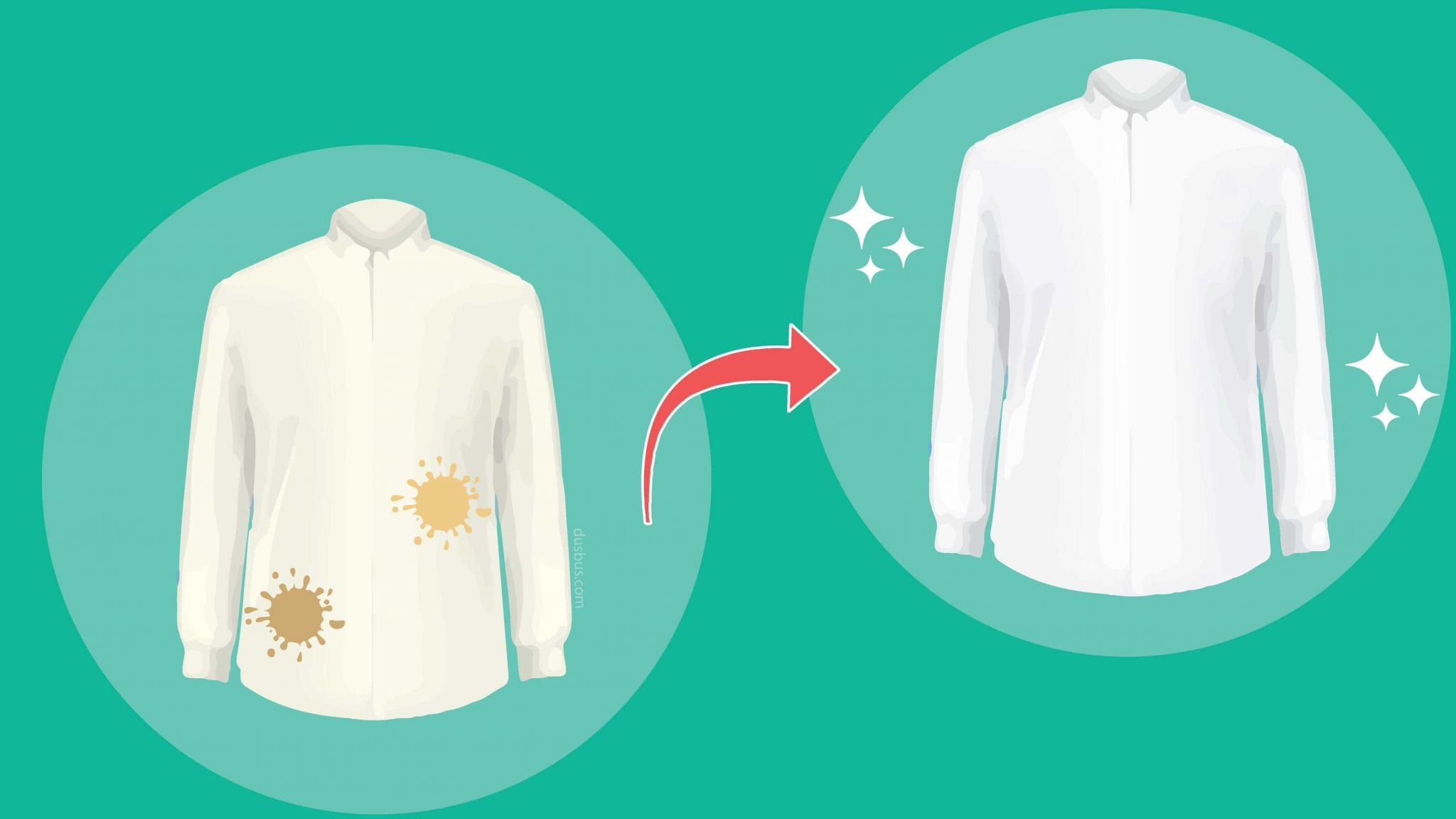 remove oil stain from shirt before after