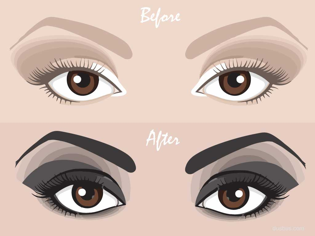 Before After Smokey Eyes