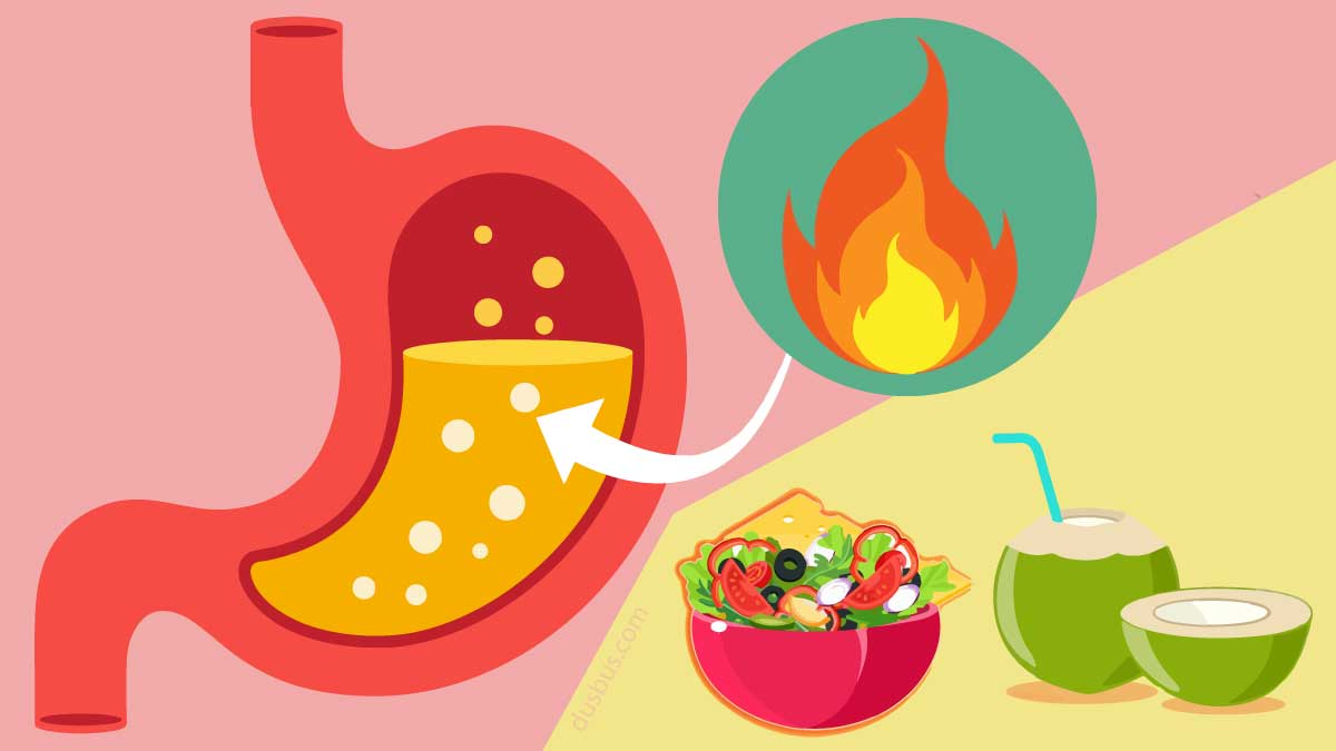 food items to tackle stomach heat