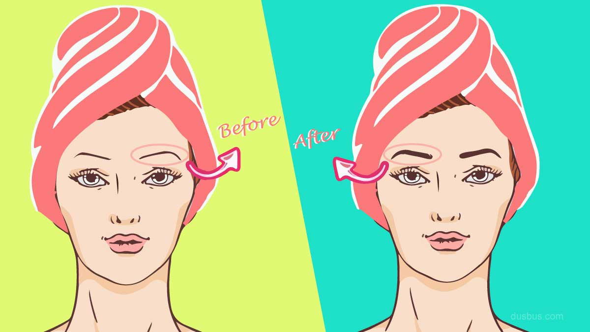 Get thick eyebrows before after