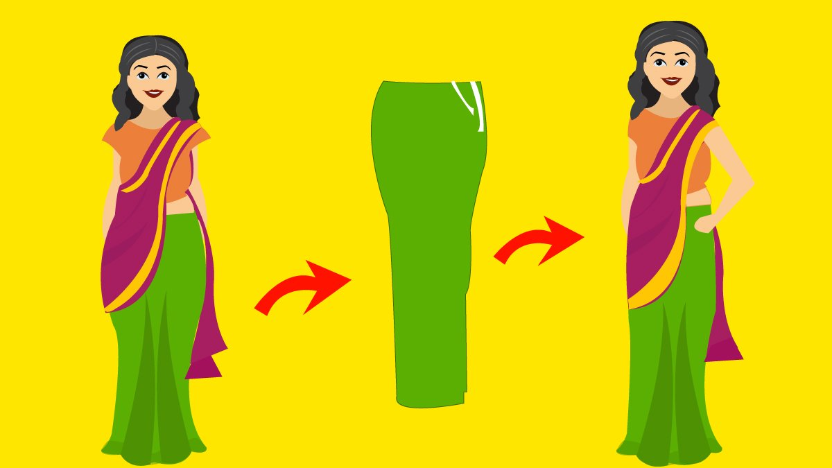 saree petticoat trick to look slim