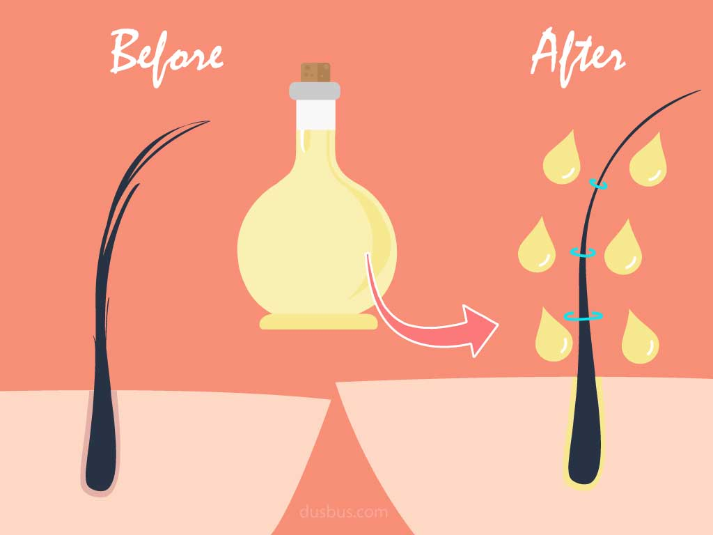 Oiling helps strengthen hair & reduce frizziness