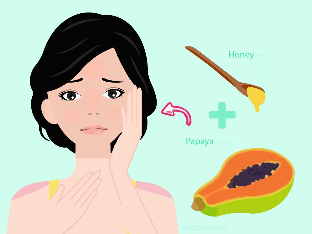 Papaya Paste And Honey For Anti-Tanning Skincare
