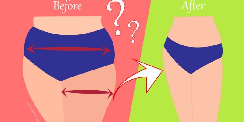 lose thight fat and tone your leg before after