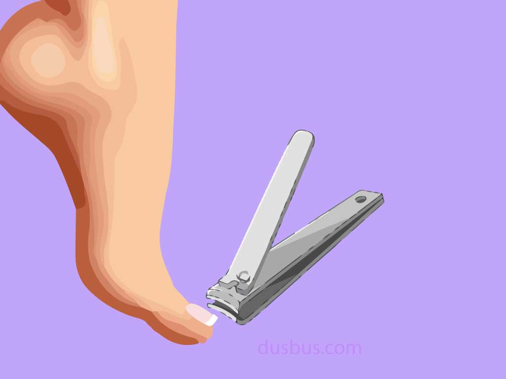 Feet with long nail & a Nail Clipper