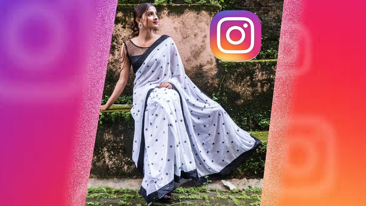 beautiful lady in a Saree, Instagram icon