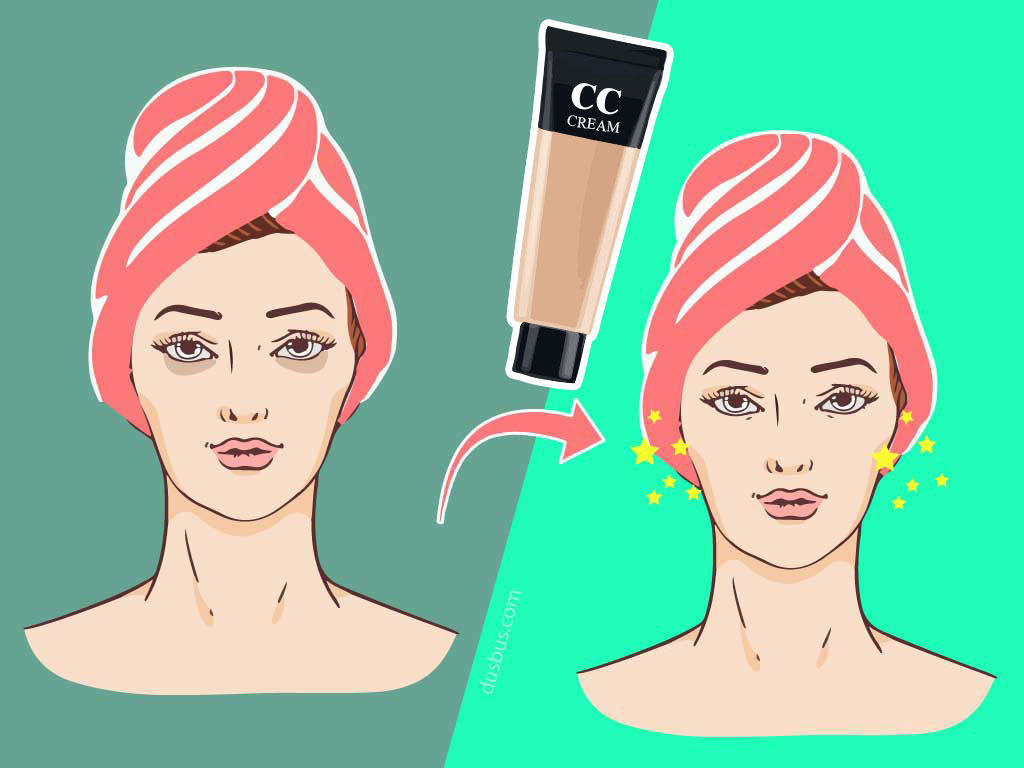 CC Cream Hides Dark Circles
