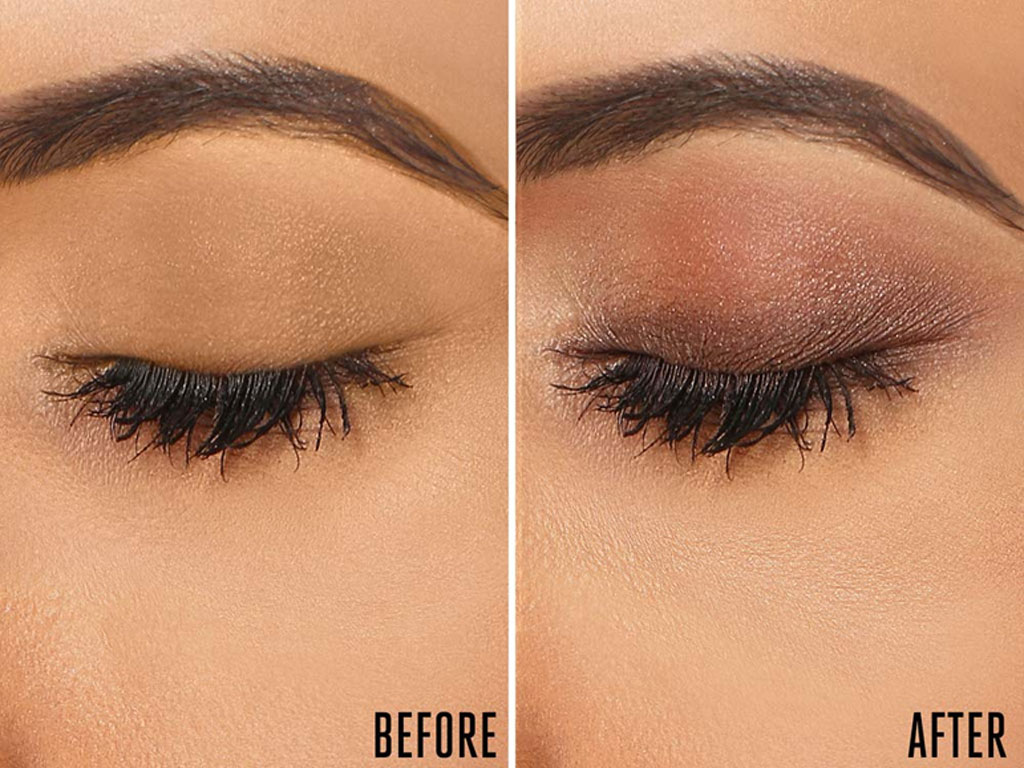 Lakme 9 to 5 Eye Color Quartet effect before after