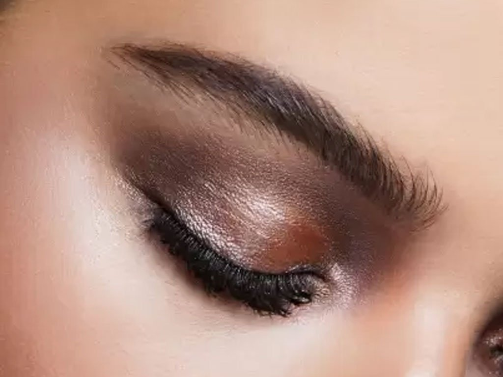 Eye shadow makeup on eyes