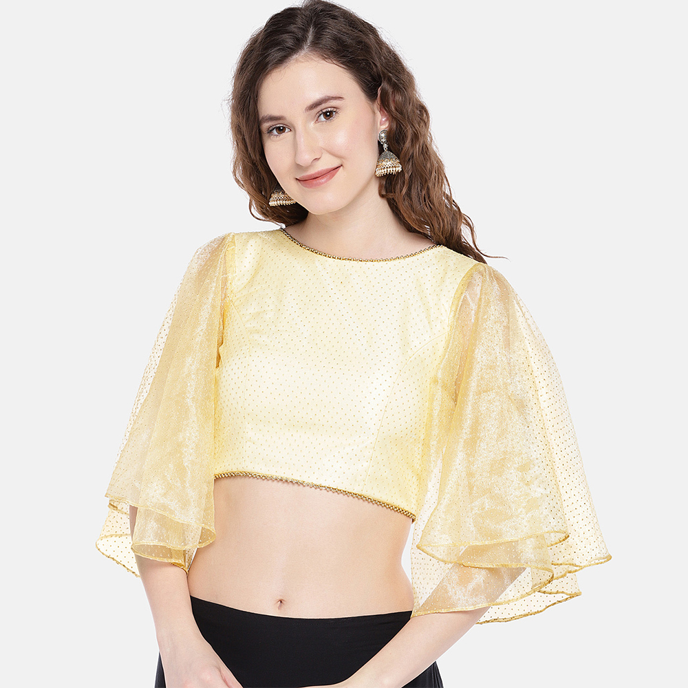 Women Gold Toned Blouse