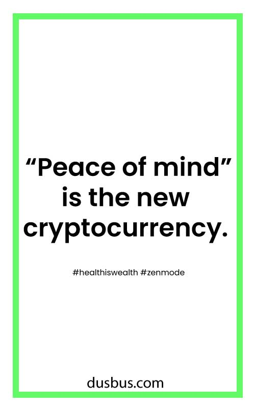 """Peace of mind"" is the new cryptocurrency."
