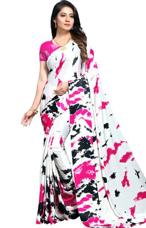 Abstract Print Saree