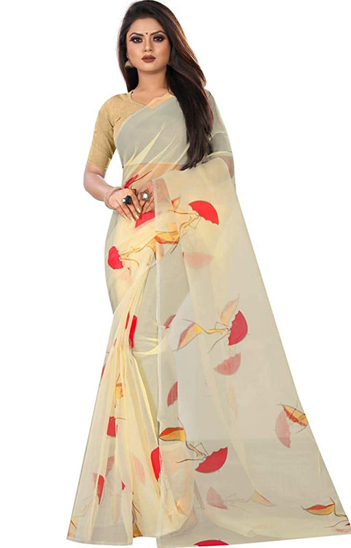 Organza Digital Printed Saree