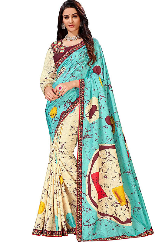 Poly Georgette Saree