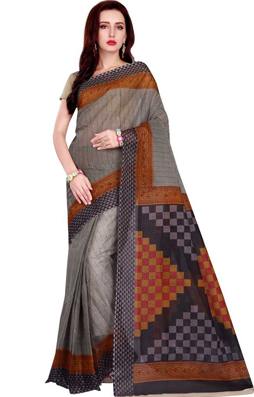 Rani Sahiba Black Cotton Saree