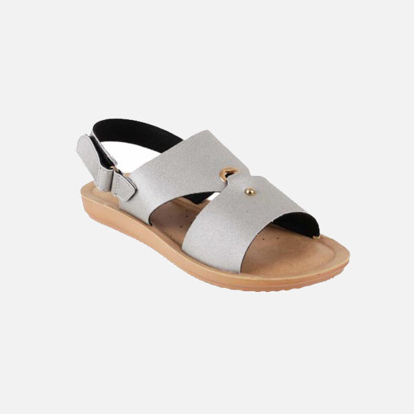 Silver Casual Sandal