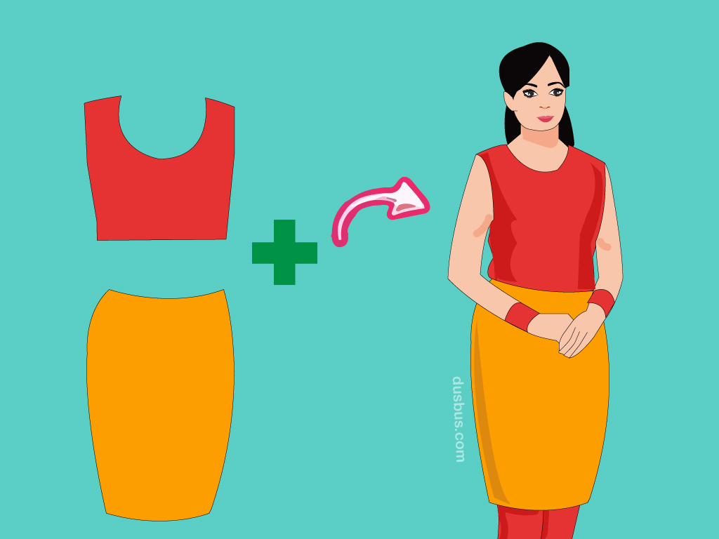 create anarkali kurta with blouse