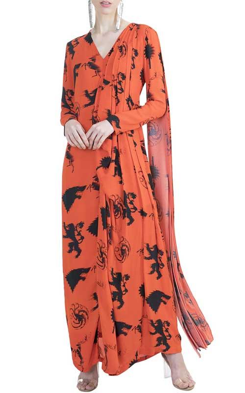 Saree gown 4