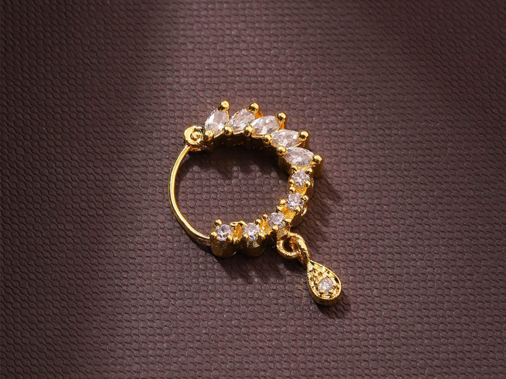 American Diamond Studded Nose Ring