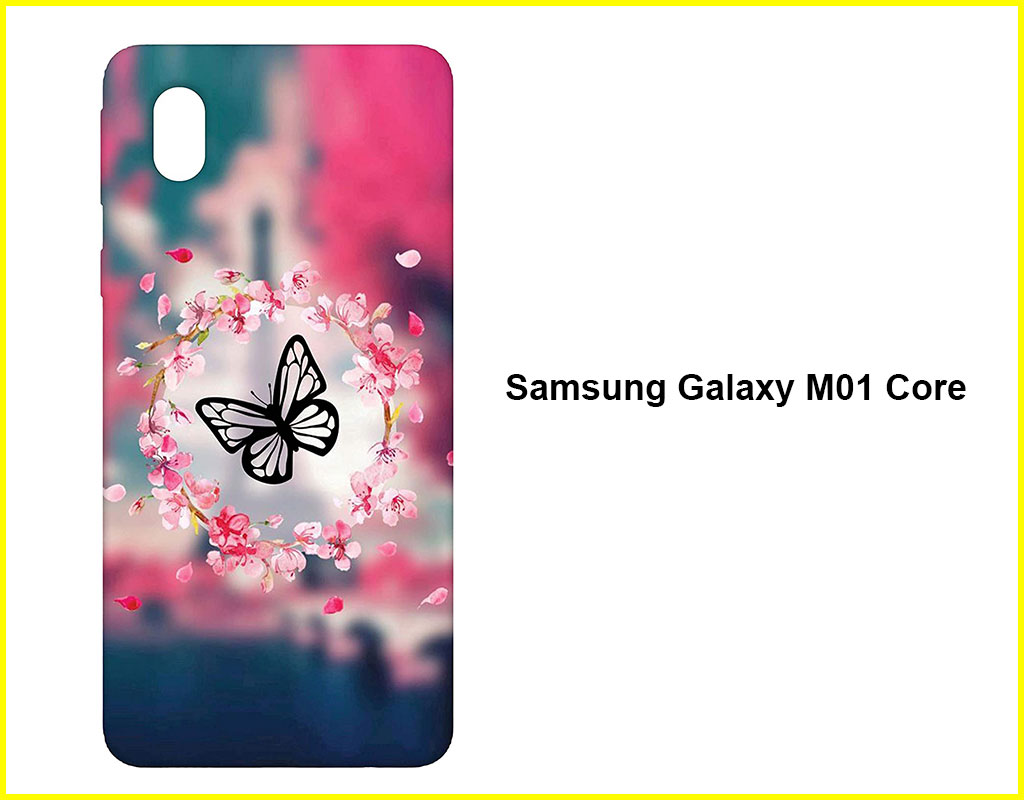 Colorful Butterfly Mobile Back Cover(Samsung Galaxy M01 Core)