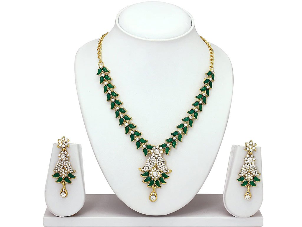 Green Rhinestone Set