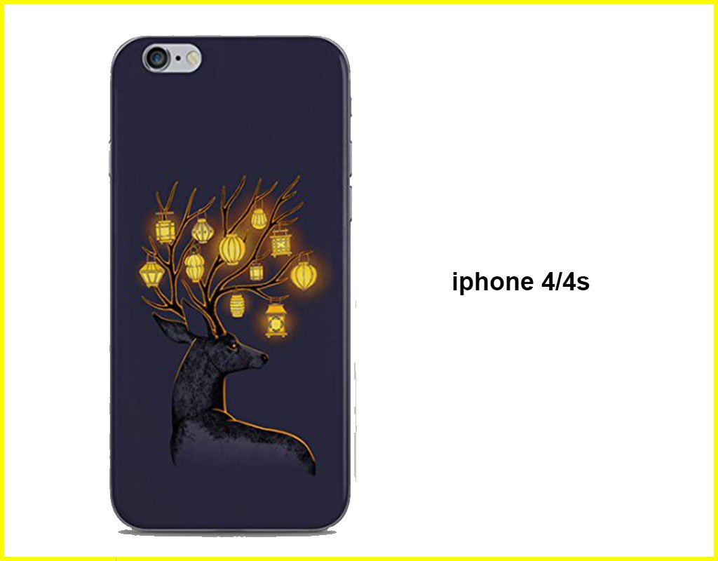 Lamp Deer Mobile Back Cover(iphone 4/4s)
