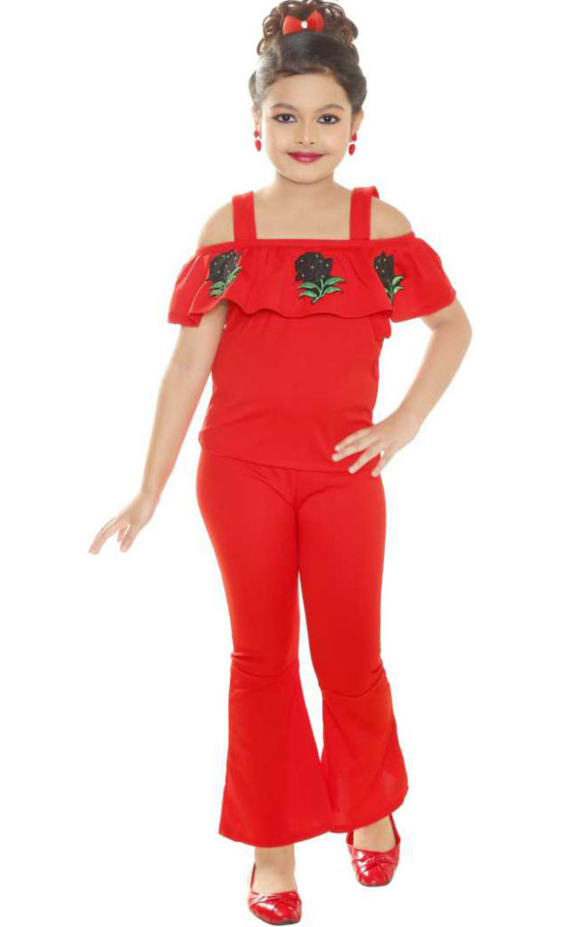 Red Jumpsuit for girls kids
