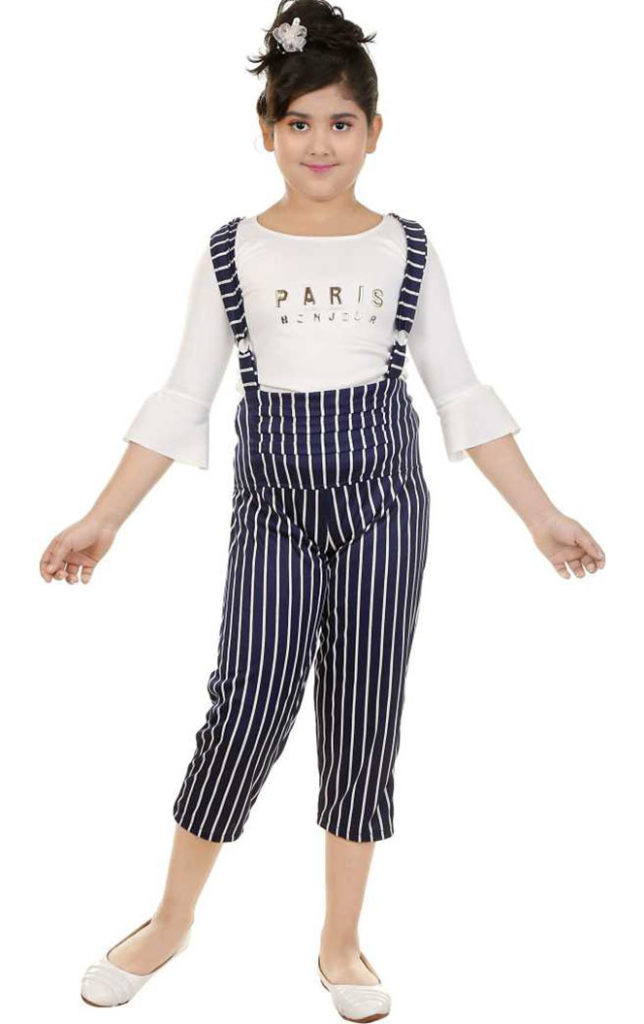 Cute Striped Dungaree