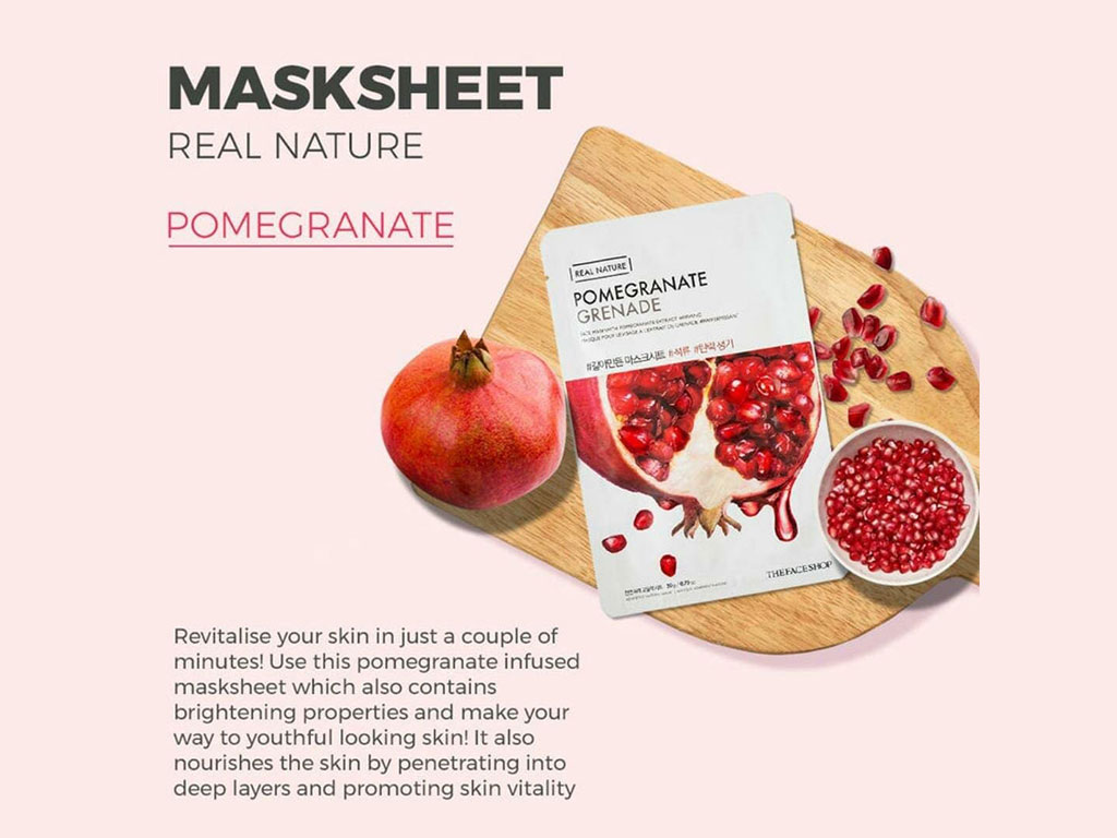 The Face Shop Real Pomegranate Sheet Mask