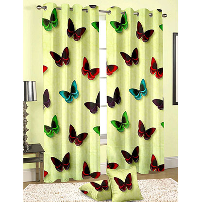 Butterfly Printed Curtain