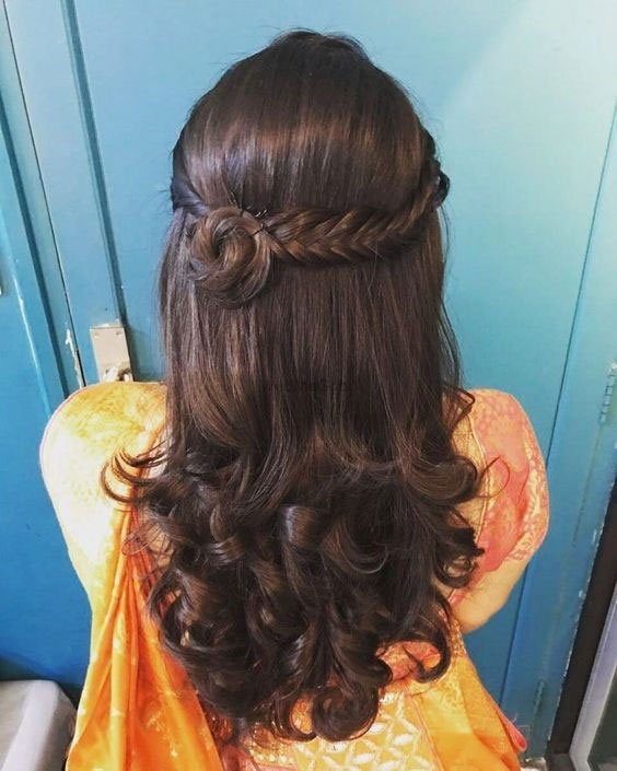 Open Hair Hairstyle For Bride
