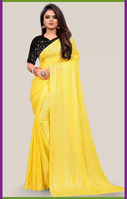 Striped Bollywood Georgette Saree