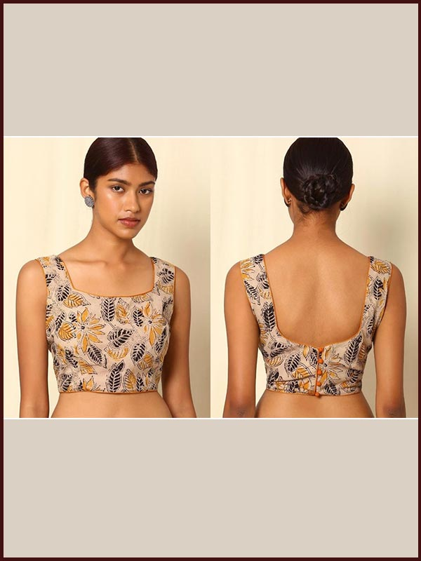 Front And Back Sleeveless Blouse Design