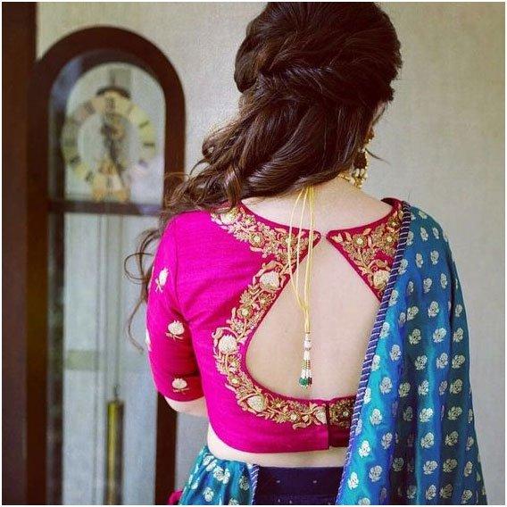 Pink Embroidered Blouse Design