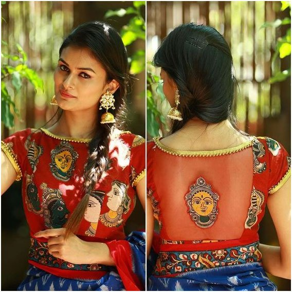 Red Traditional Blouse Design