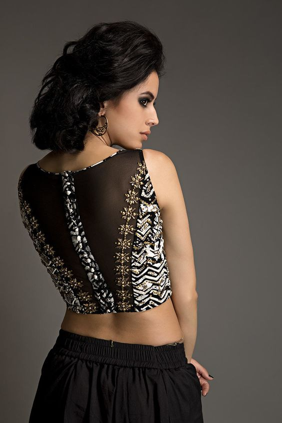 Blouse Design with a Translucent Back