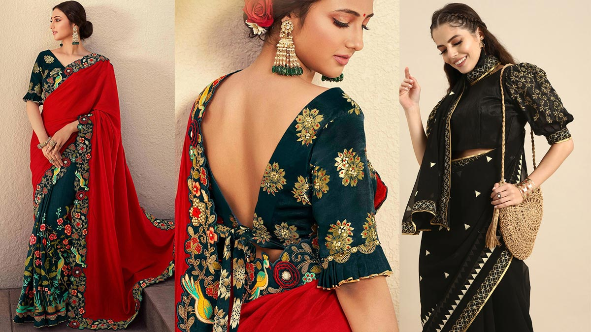 Embroidered Sarees With Blouses