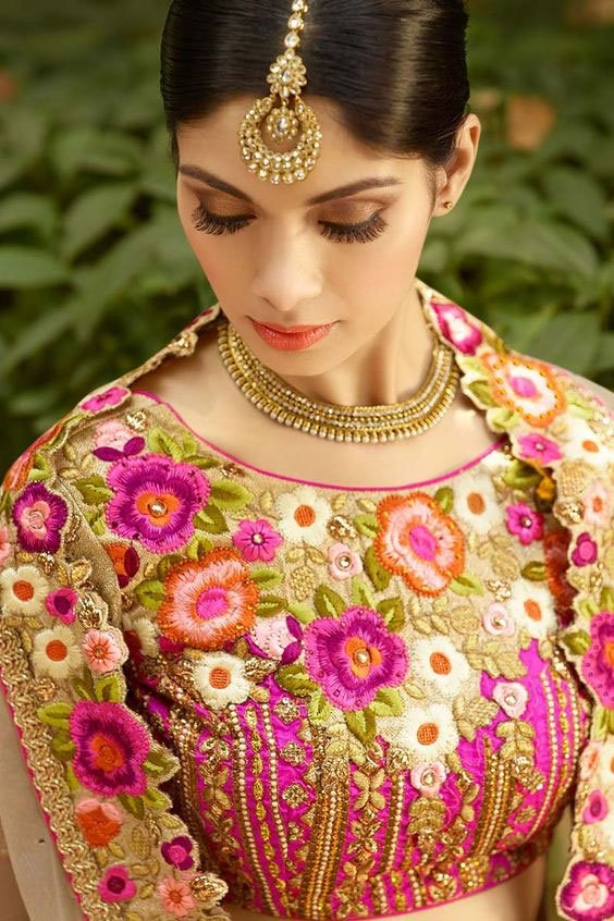 Floral Heavy Embroidered Blouse