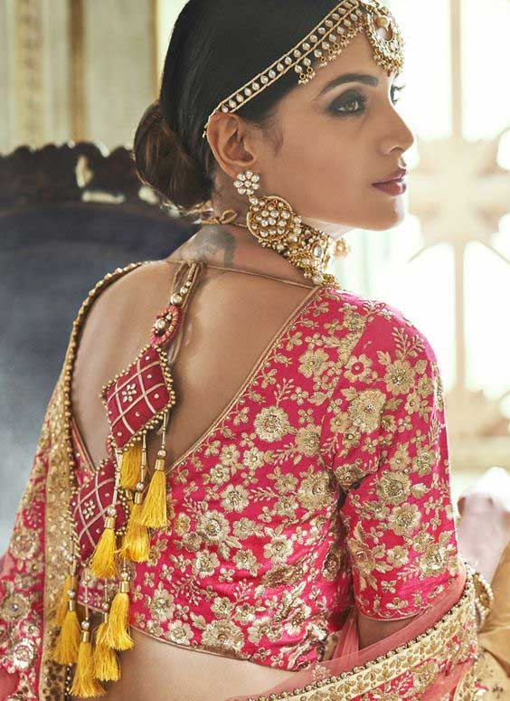 Latkan Design For Embroidered Blouse